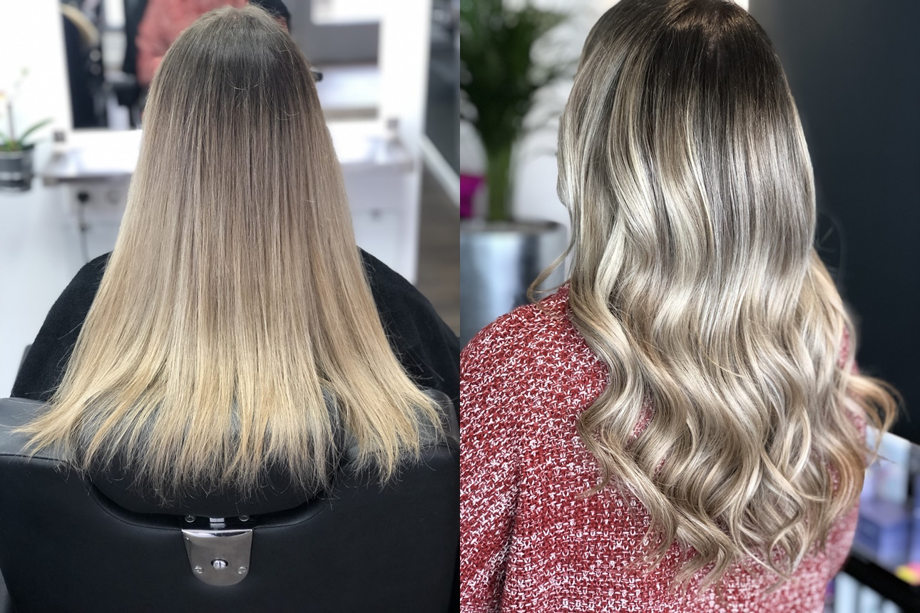 Extensions Haarverdichtung Sarah Bach Hairdesign Friseur Köln Brück