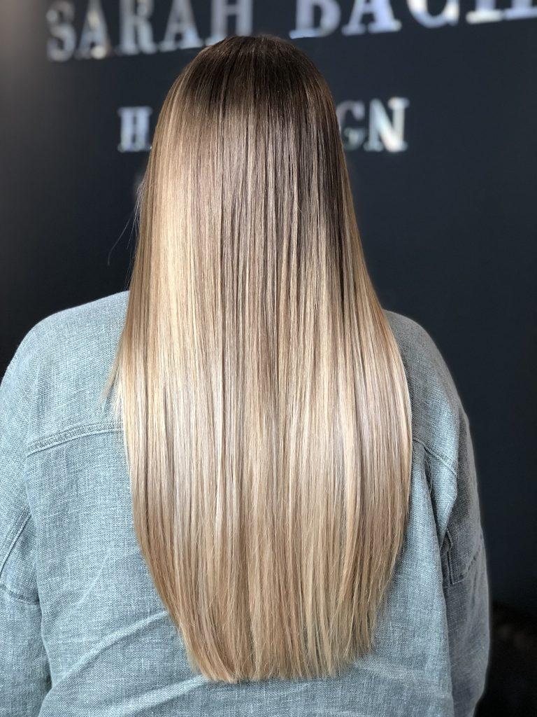 Balayage Hightlights Stähnen Sarah Bach Hairdesign Friseur Köln Brück